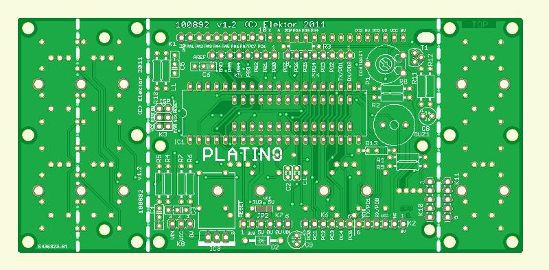 Veelzijdige AVR-print (Platino)