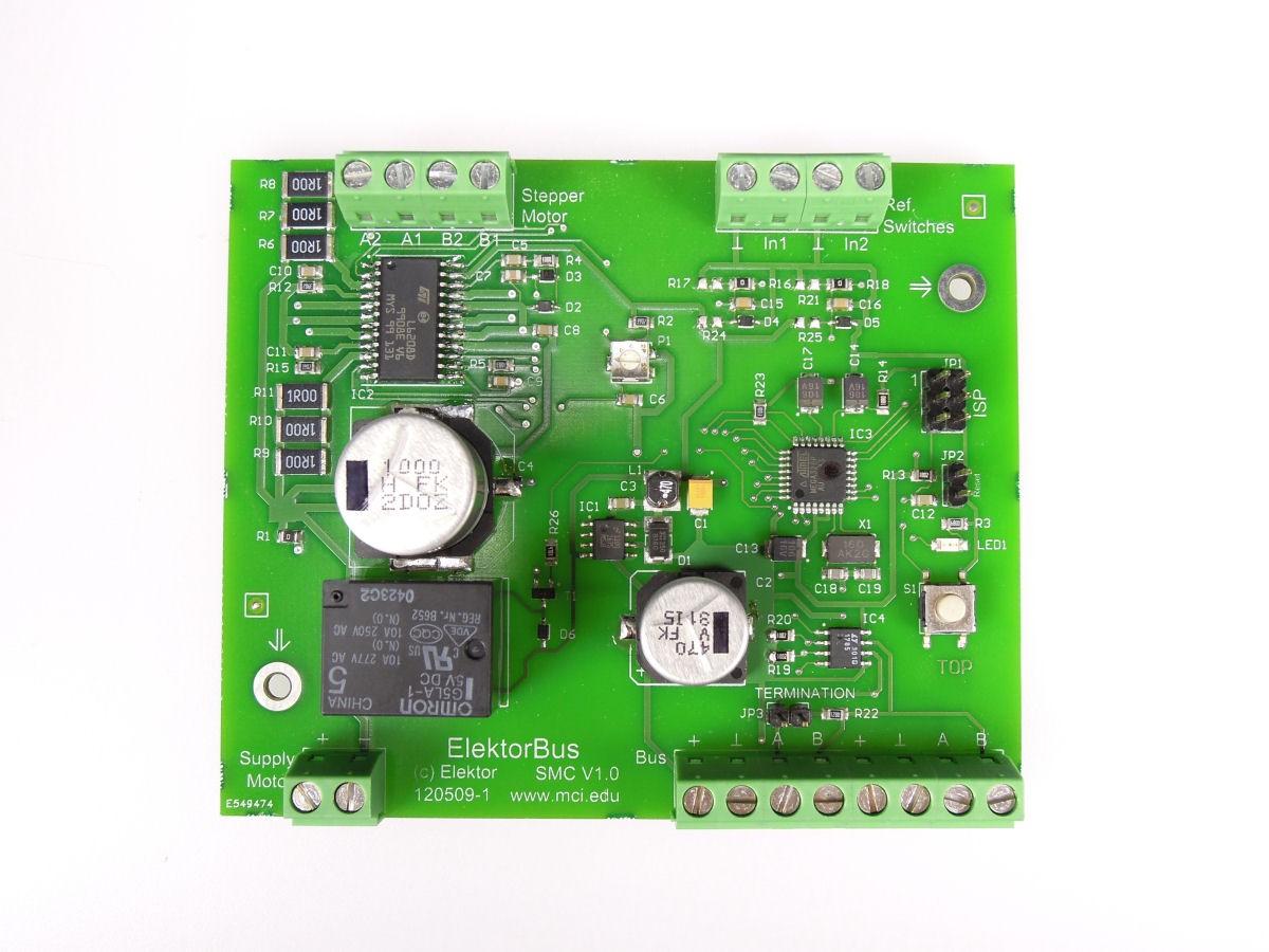 Stappenmotorbesturing (opgebouwde en geteste module)