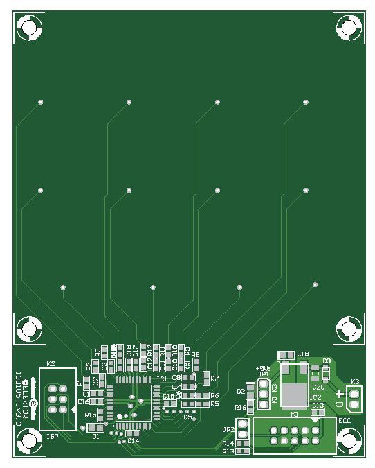 Universeel capacitief toetsenbord (Gerber 130105-1)