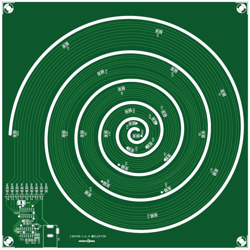 Print voor spiralige kerstboom (130478-1)