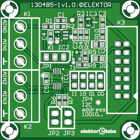 Print voor 16-Bits ADC-module (130485-1)