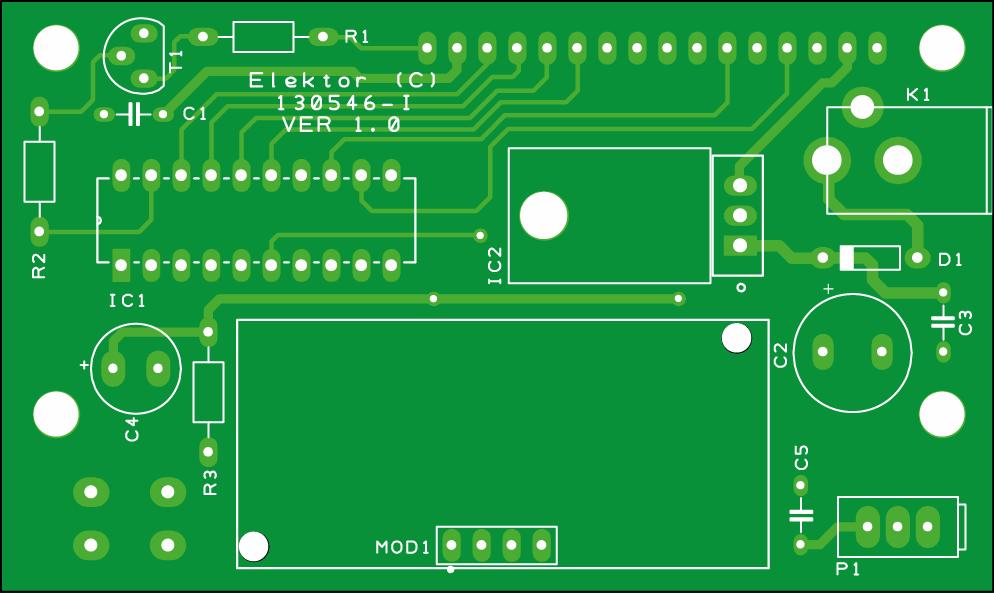 Print voor de ultrasone afstandsmeter (130546-1)