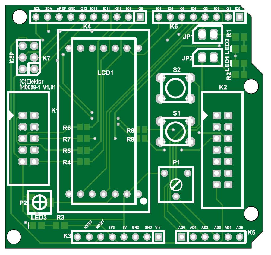 Print voor Arduino Experimenteer Shield (140009-1)