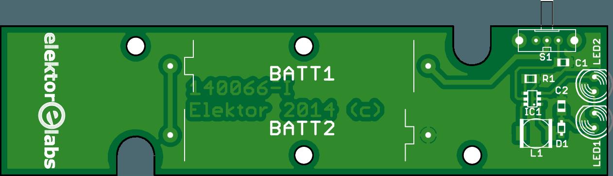 Print voor de DHZ-LED-zaklamp (140066-1)