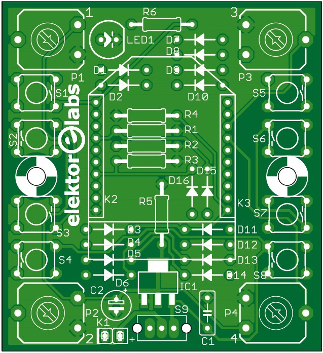 4-Channel (Xbee sender) Remote Control - bare PCB