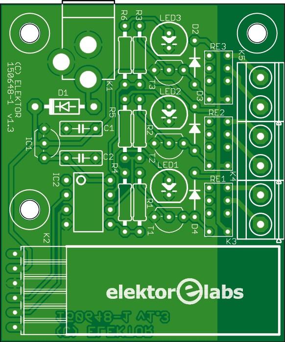 Bluetooth relay - bare PCB (150648-1)