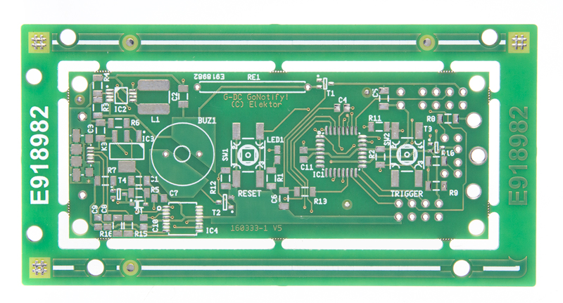 GoNotify, een flexibele IoT sensor-interface - bare PCB (160333-1)