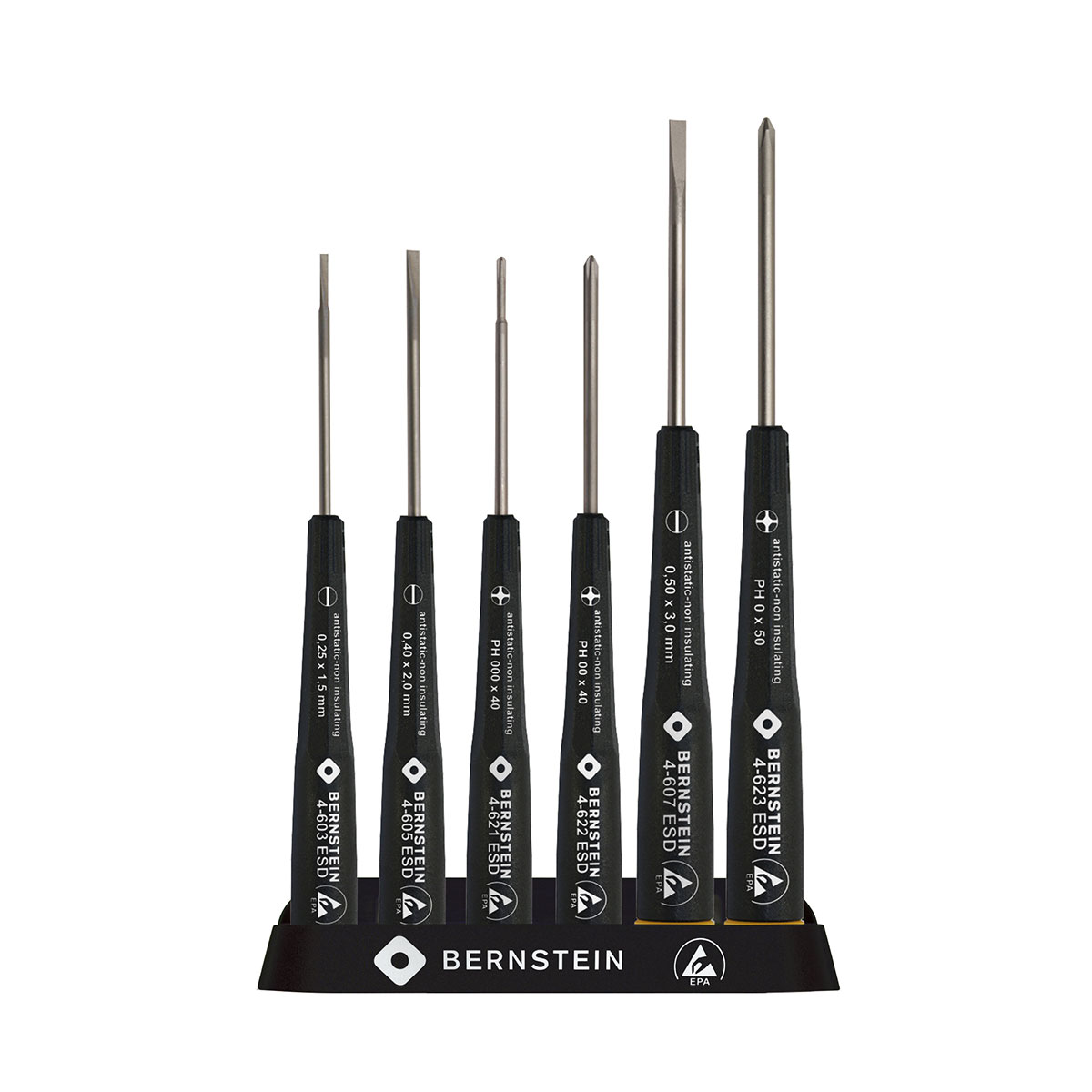 Bernstein 4-620 ESD Screwdriver Set (6 pieces)