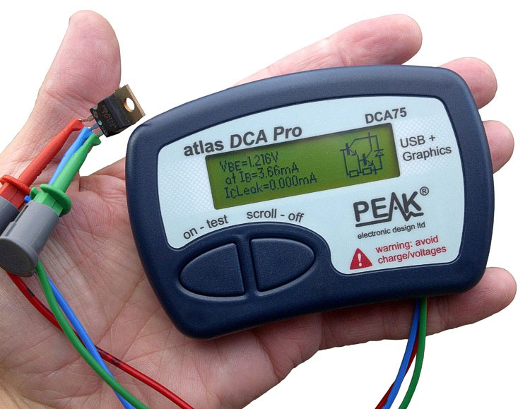 Atlas DCA75 Pro – Intelligente halfgeleider-analyser