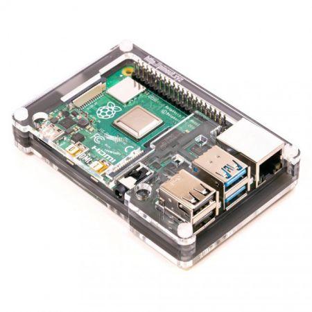 Pibow Coupé 4 (Ninja) – Slim Case for Raspberry Pi 4
