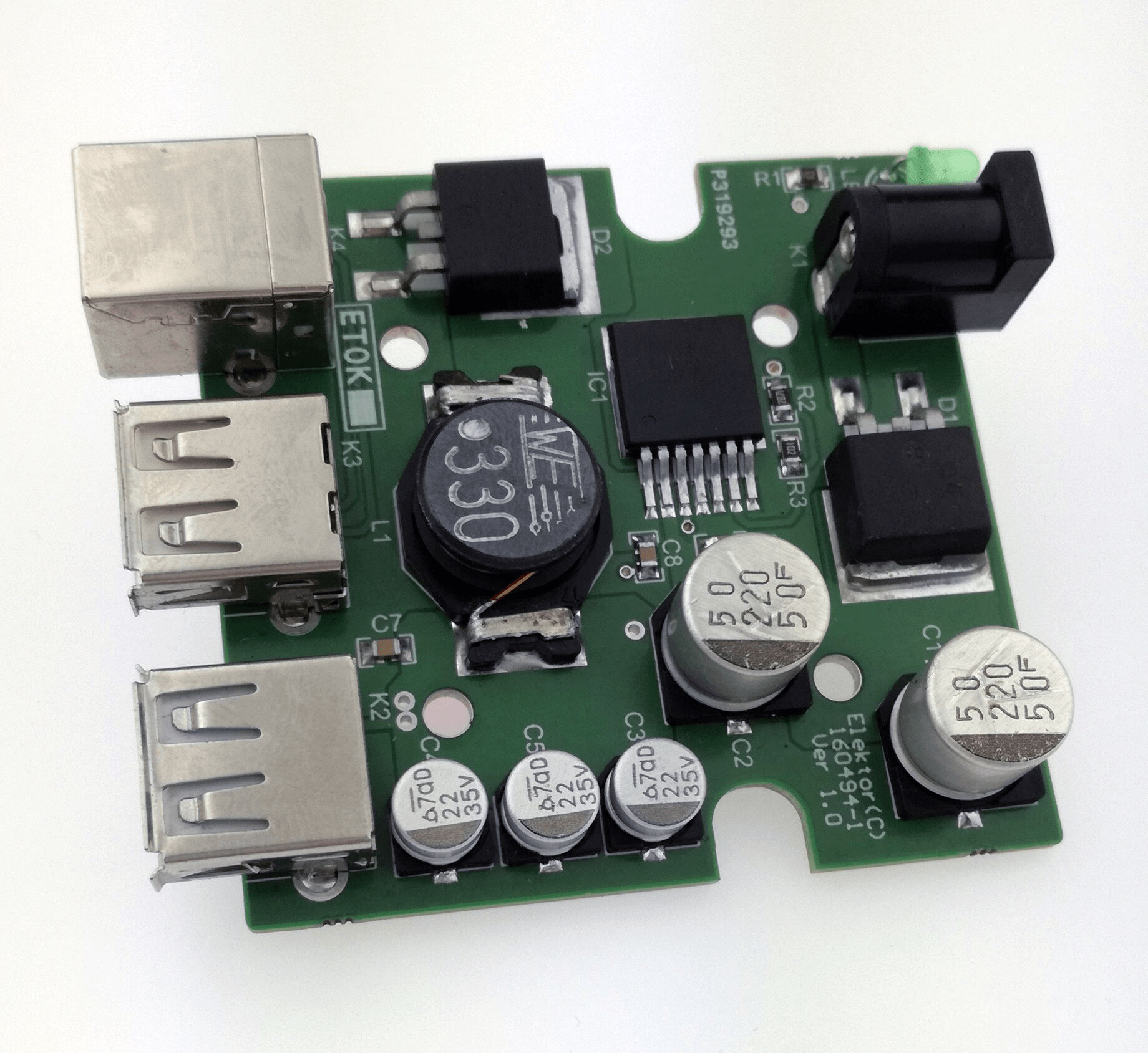 Power supply module for RPi and harddisk - (160494-91)