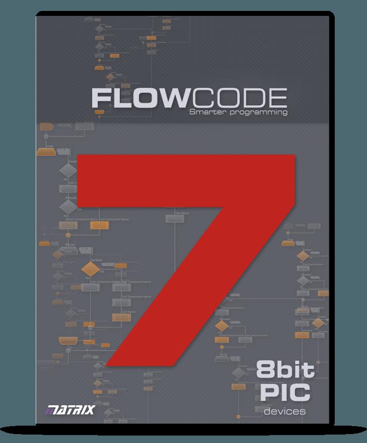 Standaard 8bit PIC licentie Flowcode 7