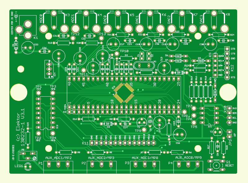 Universeel Audio-DSP board (onbestukte printplaat)