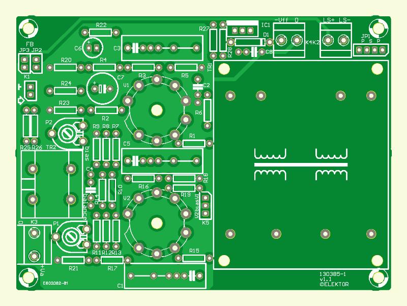 Compacte buizenversterker (onbestukte printplaat)