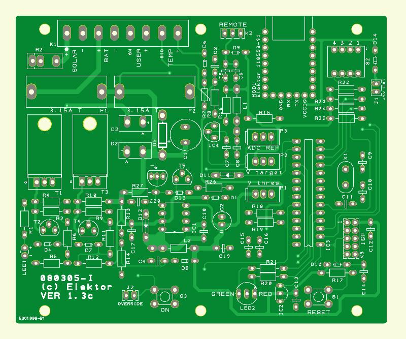50-watt Solar Cell Voltage Regulator