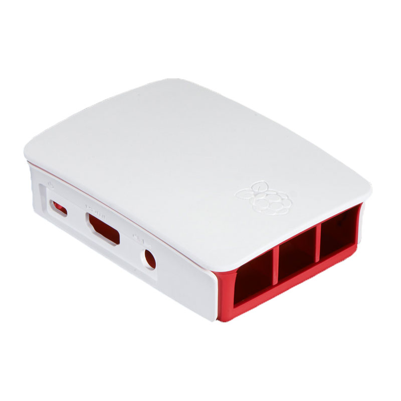 Official Case for Raspberry Pi 3, 2 and B+ (white/red)