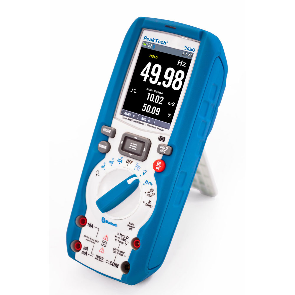 PeakTech 3450 True RMS Graphical Multimeter with Thermal Imager (6000 Counts)
