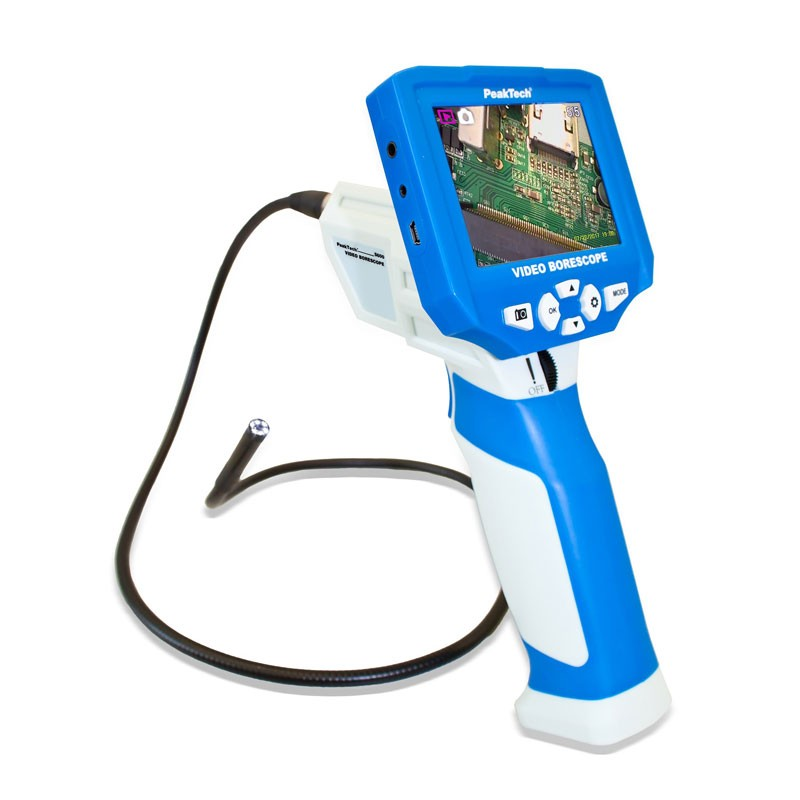 PeakTech 5600 – Video borescope-camera with TFT-Display & 4GB SD-Card