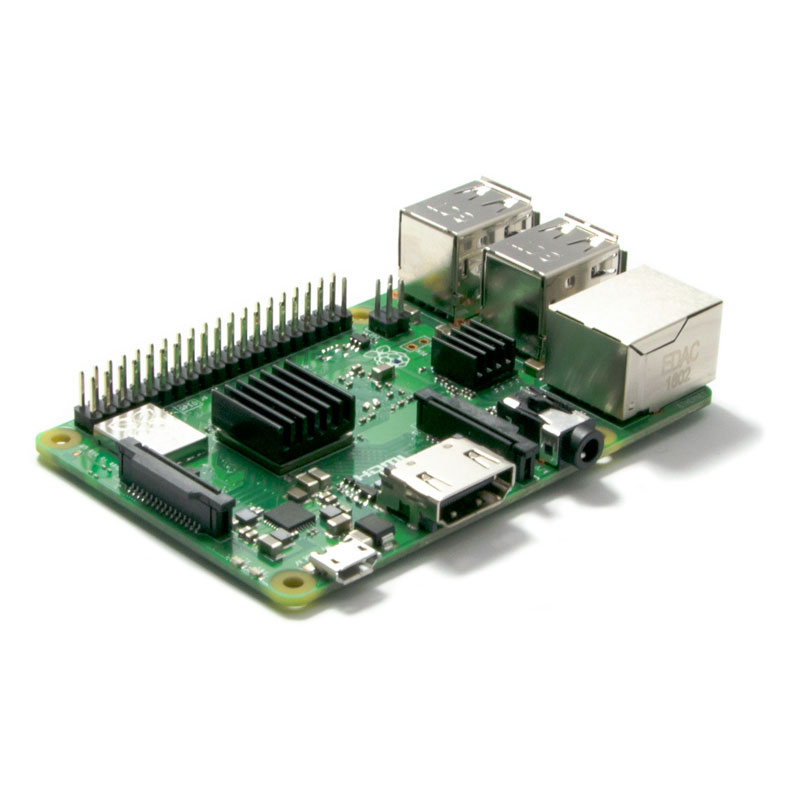 Raspberry Pi 3 B+ (met voorgemonteerde koellichamen)