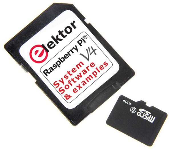 SD-Card met software voor het boek Raspberry Pi