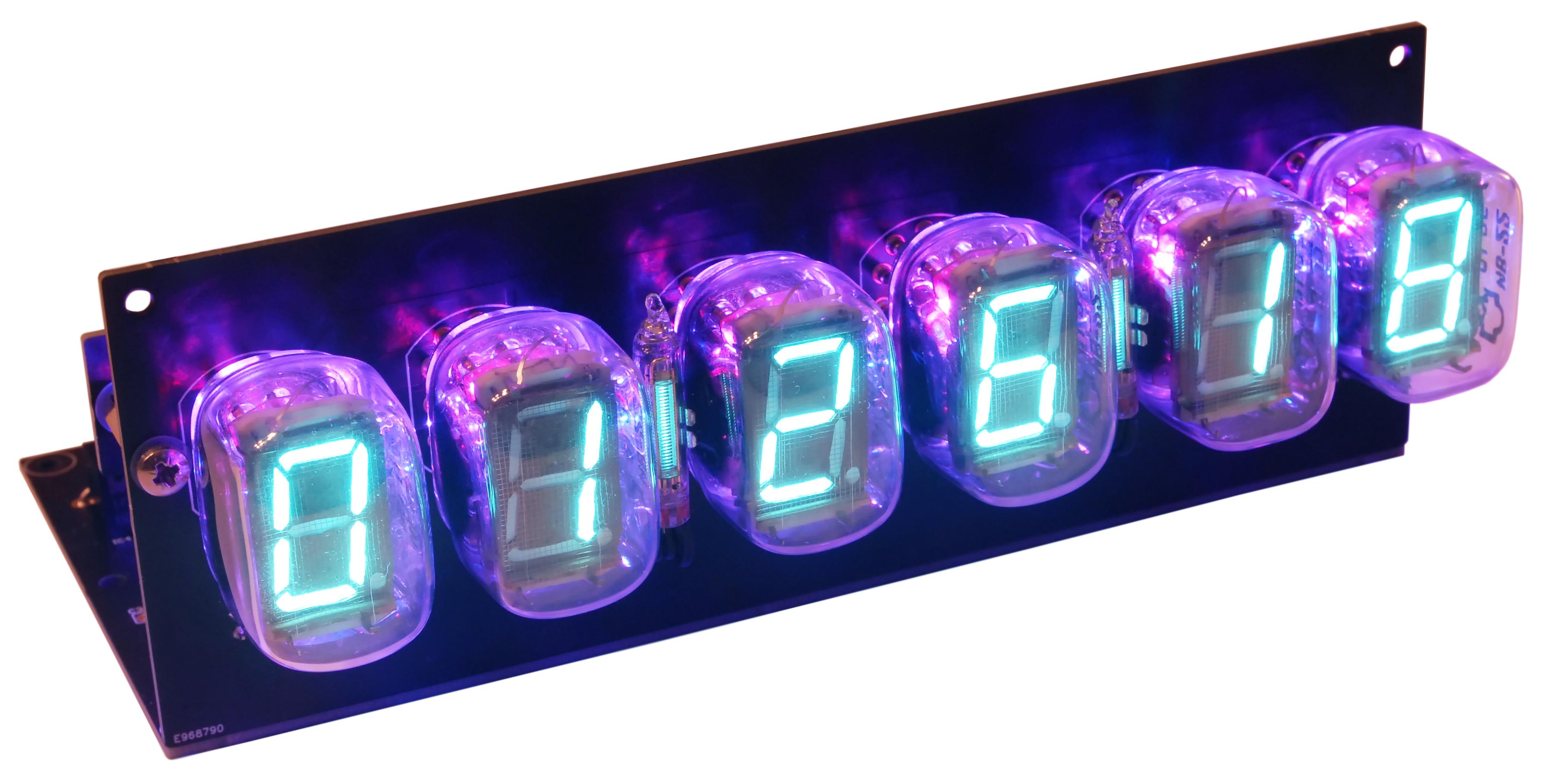 VFD-Tube Clock with ESP32 DevKit-C incl. acrylic case (170573-71)